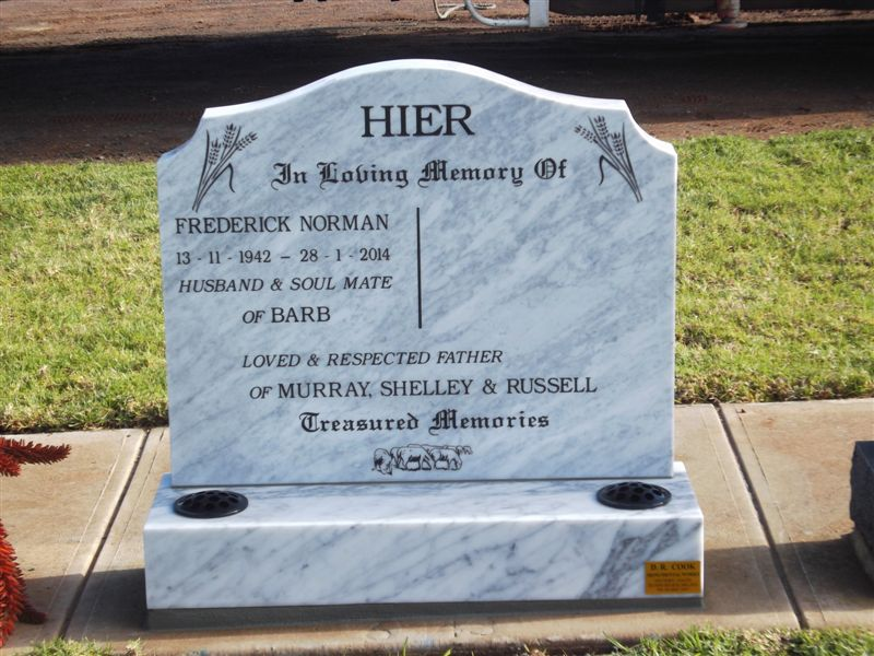 Custom Designed Memorials And Lawn Memorials D R Cook